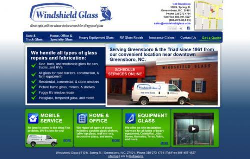 Website Redesign Windshield Glass Custom Website Design Development Charlotte Nc