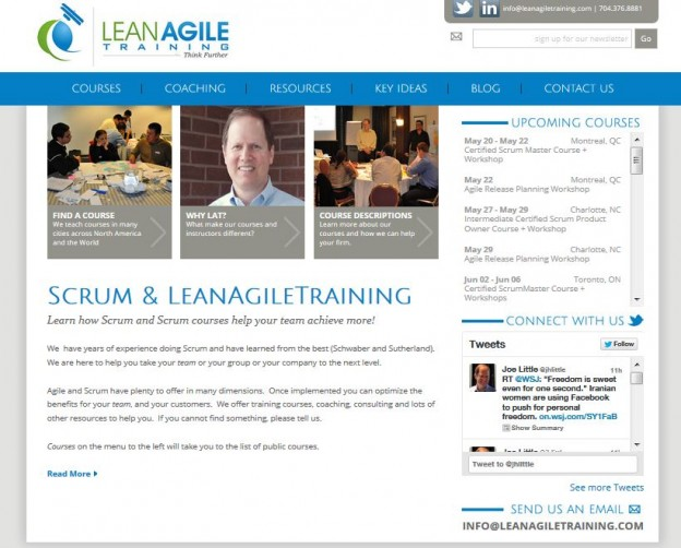 Website Redesign Lean Agile Training Custom Website Design Development Charlotte Nc