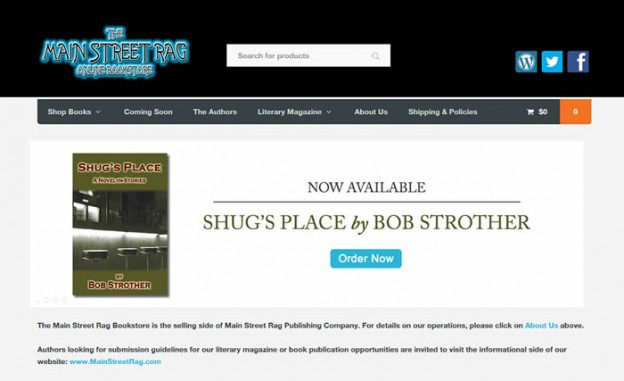 Website Redesign Main Street Rag Bookstore Custom Website Design Development Charlotte Nc
