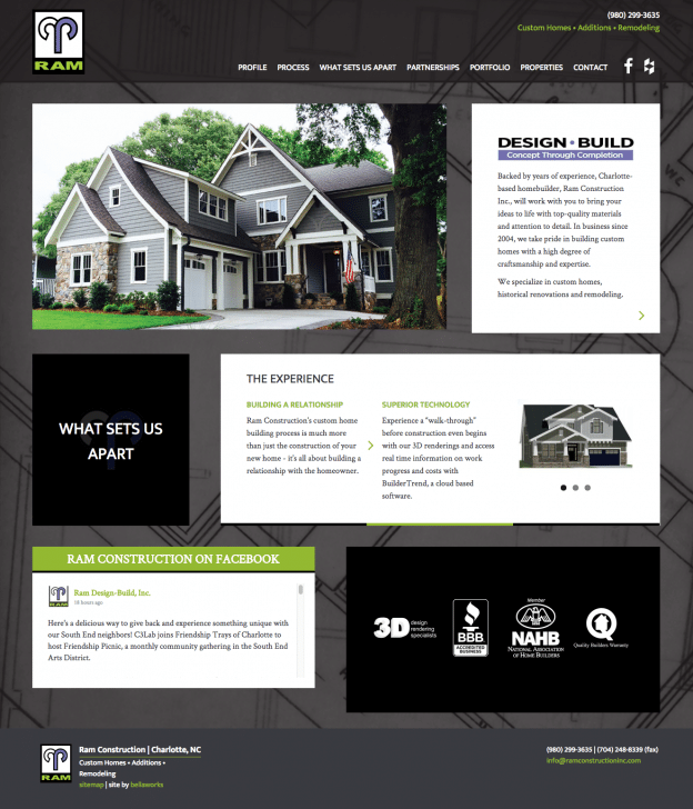 Ram Construction Custom Website Design Development Charlotte Nc