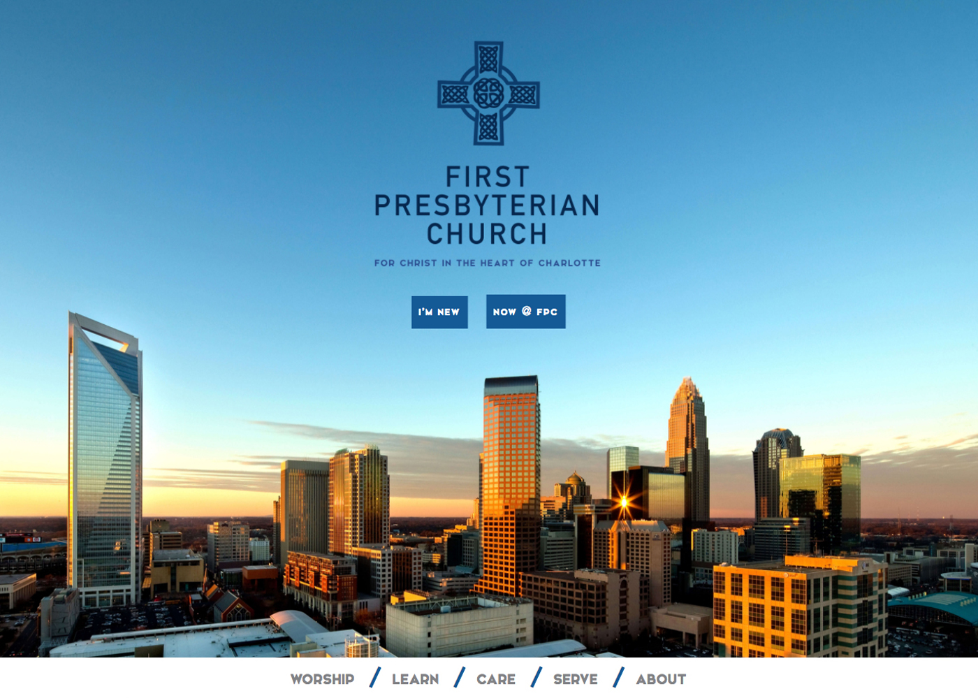First Pres Charlotte website designed by Bellaworks Web Design