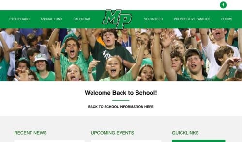 Myers Park PTA website designed by Bellaworks Web Design
