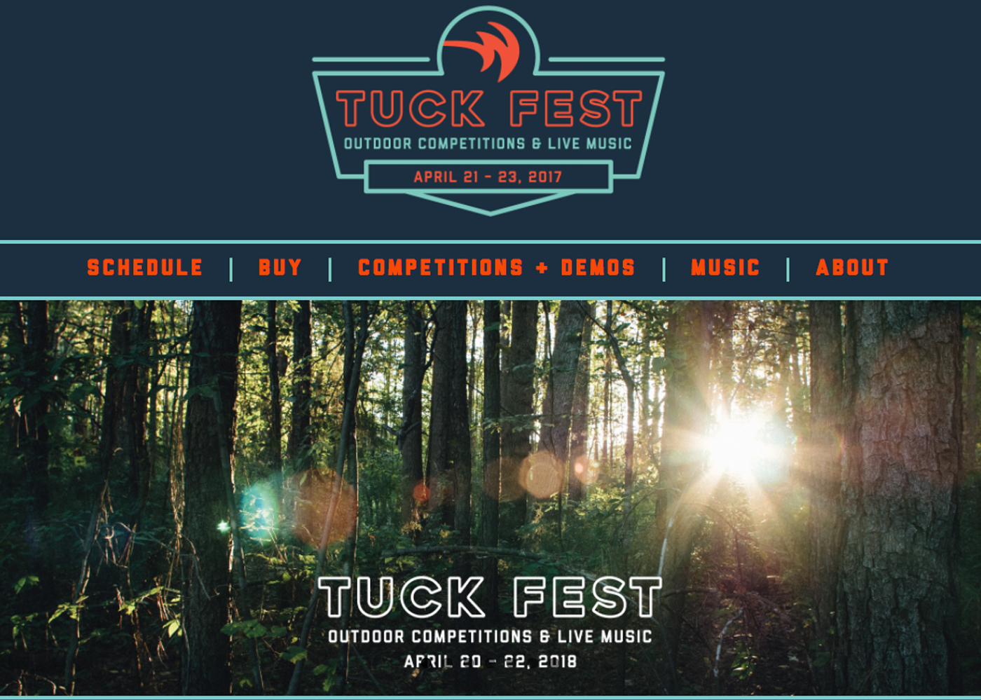 Tuck Fest website developed by Bellaworks Web Design