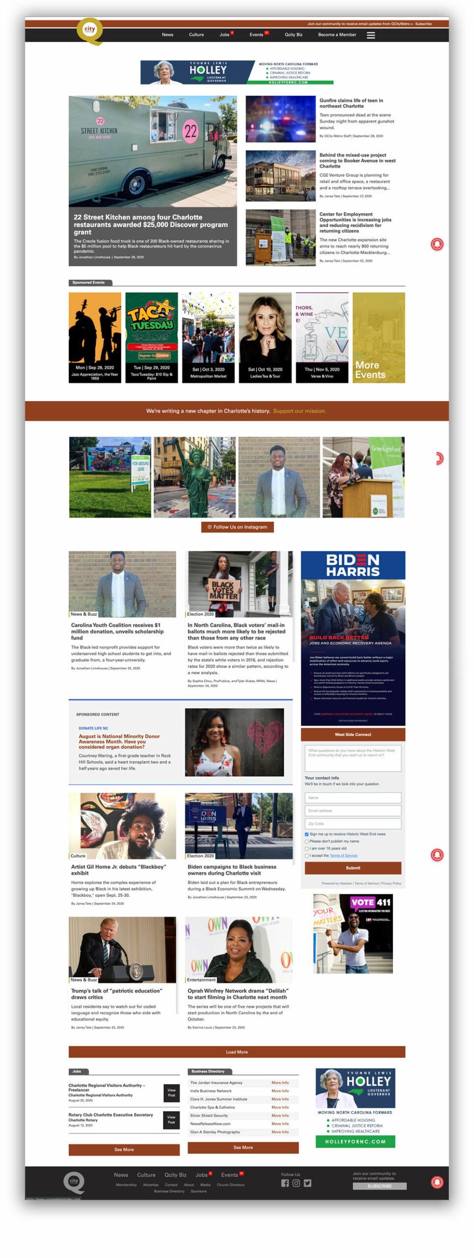 Qcity Metro homepage